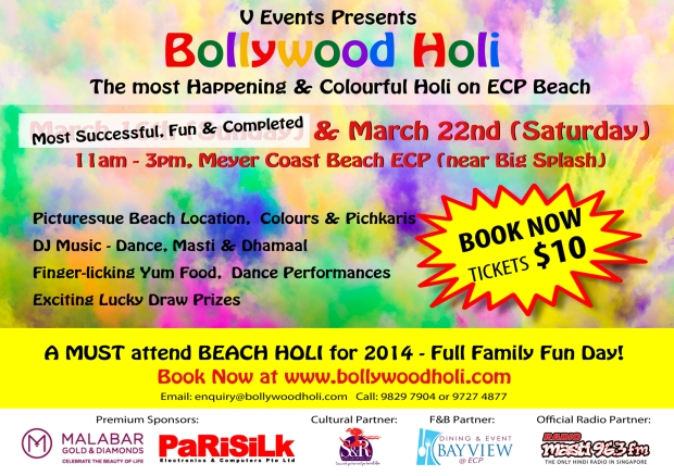 Bollywood Holi only 22nd